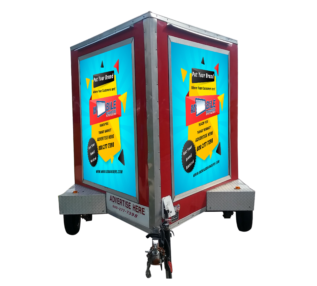 A set up of mobile advertisement for curbside
